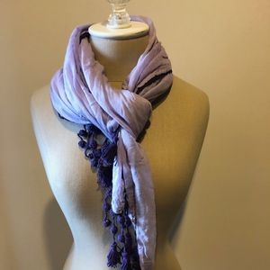 Lucky Brand Purple Cotton Scarf- BRAND NEW